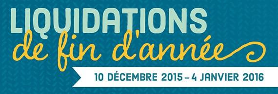 Liquidation de fin d'année Stampin'Up! 2015