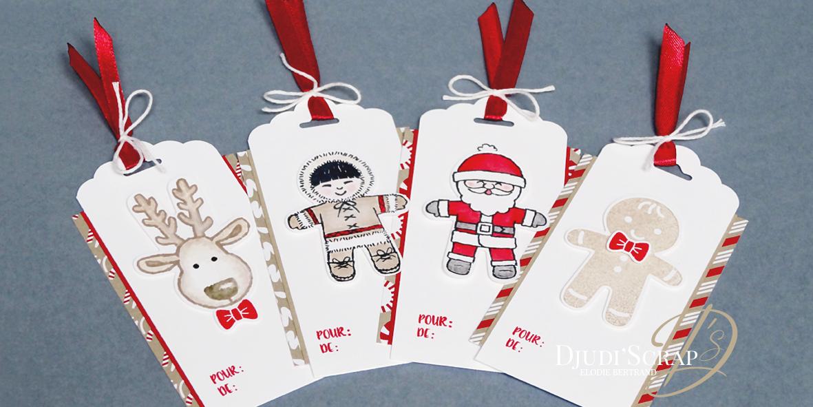 Etiquettes cadeaux tags set emporte pi ce de no l for Cadeau de table pour noel
