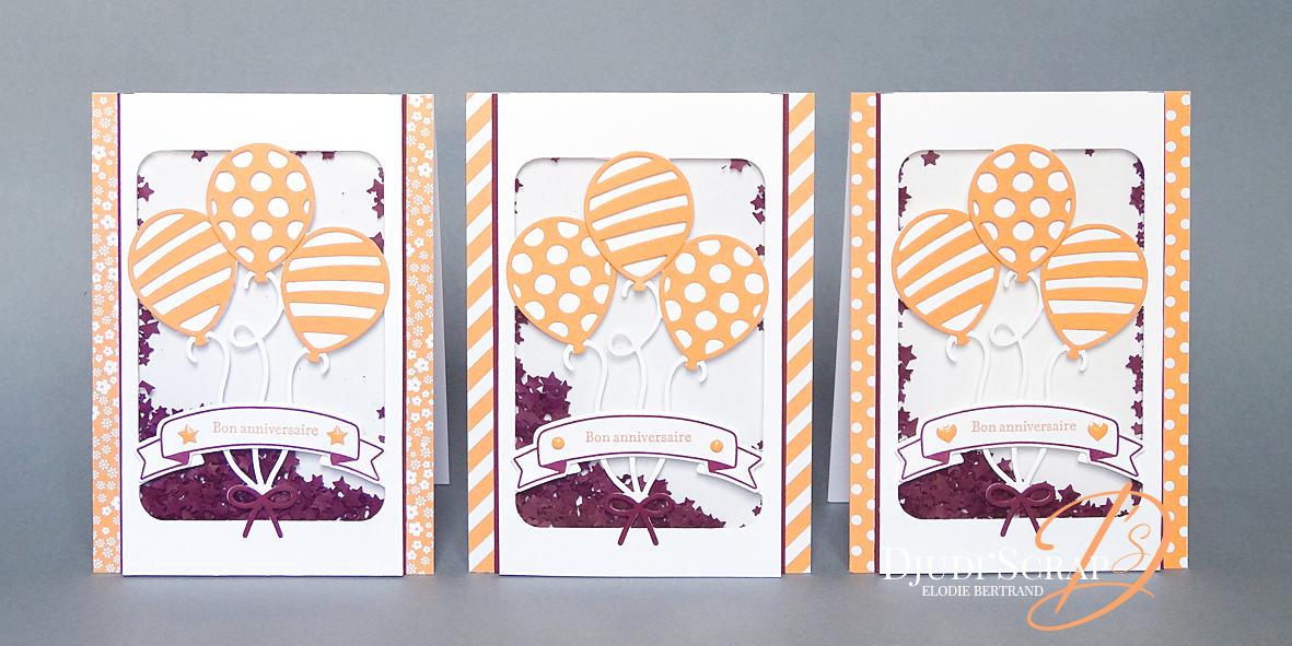 Tutoriel Carte Anniversaire A Secouer Shaker Card Thinlits Ballons Saillants Djudiscrap
