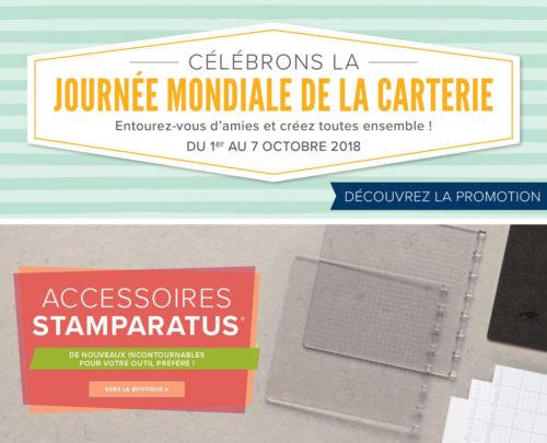 2018 10 01 Stampin'Up! Promotion – Journée Mondiale de la Carterie – Accessoires Stamparatus 1