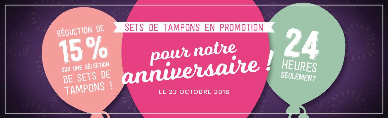 2018 10 23 Stampin'Up! Promotion – Promotion 24h Set de tampons à – 15% 1