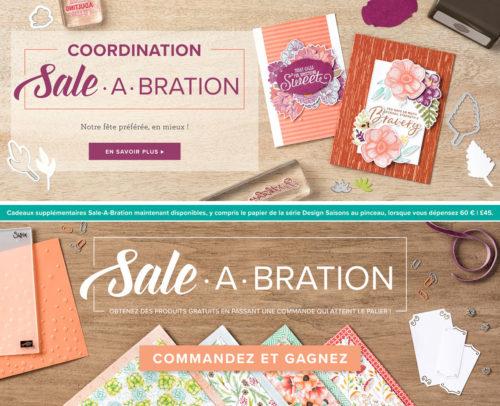 2019 03 01 Stampin'Up! Promotion – Exclusivité Coordination Sale A Bration et Nouveaux Cadeaux Sale A Bration