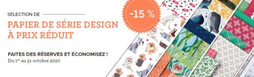 2020 10 01-31 Stampin'Up! Promotion – Papier de série Design à prix réduit 1