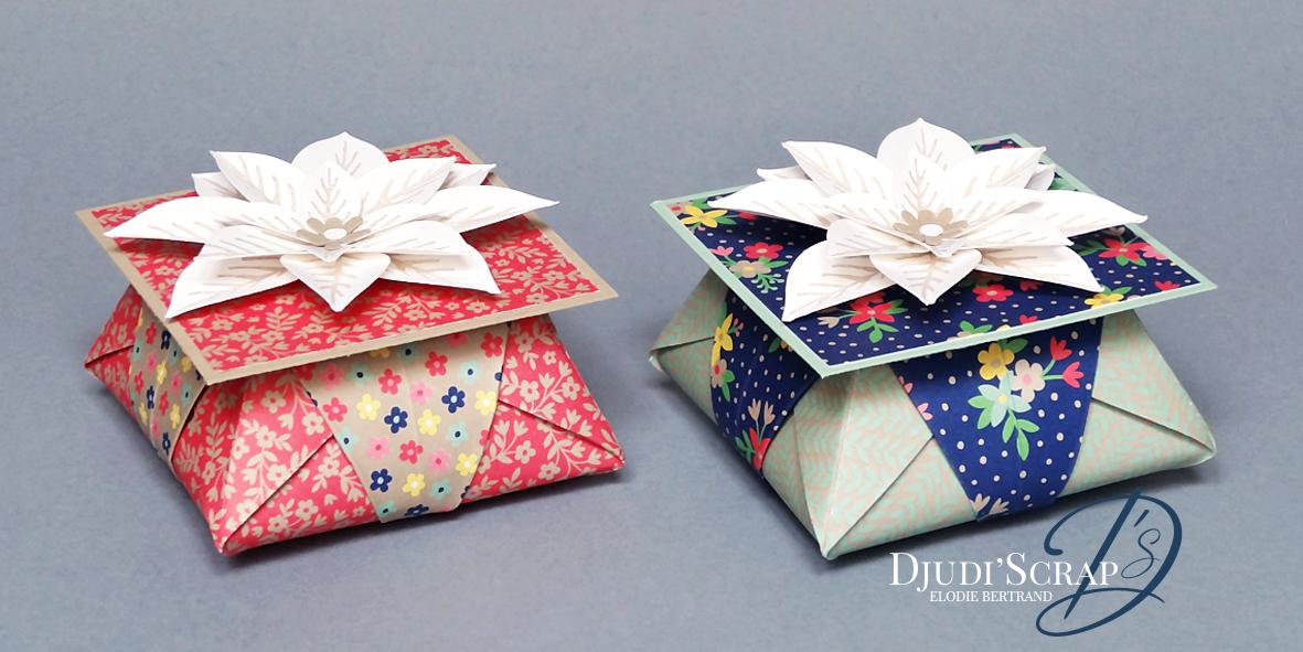 tutoriel bo tes cadeaux origami perforatrice fleur festive en kit djudiscrap. Black Bedroom Furniture Sets. Home Design Ideas
