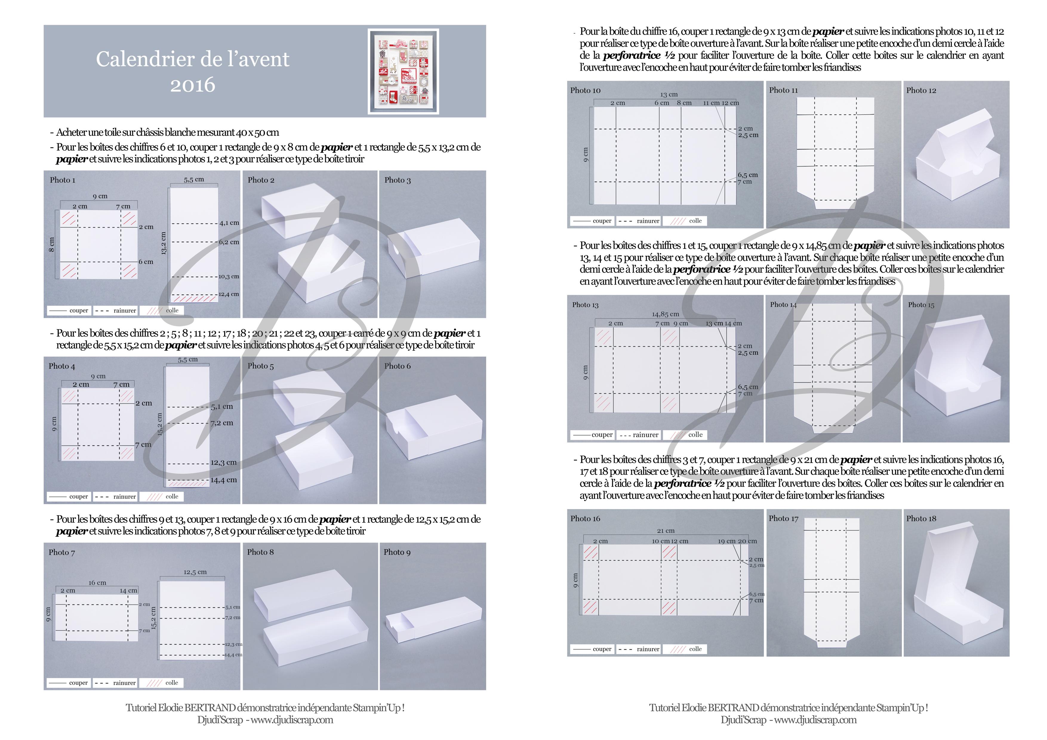 tutoriel calendrier de l avent 2016 papier canne de no l. Black Bedroom Furniture Sets. Home Design Ideas