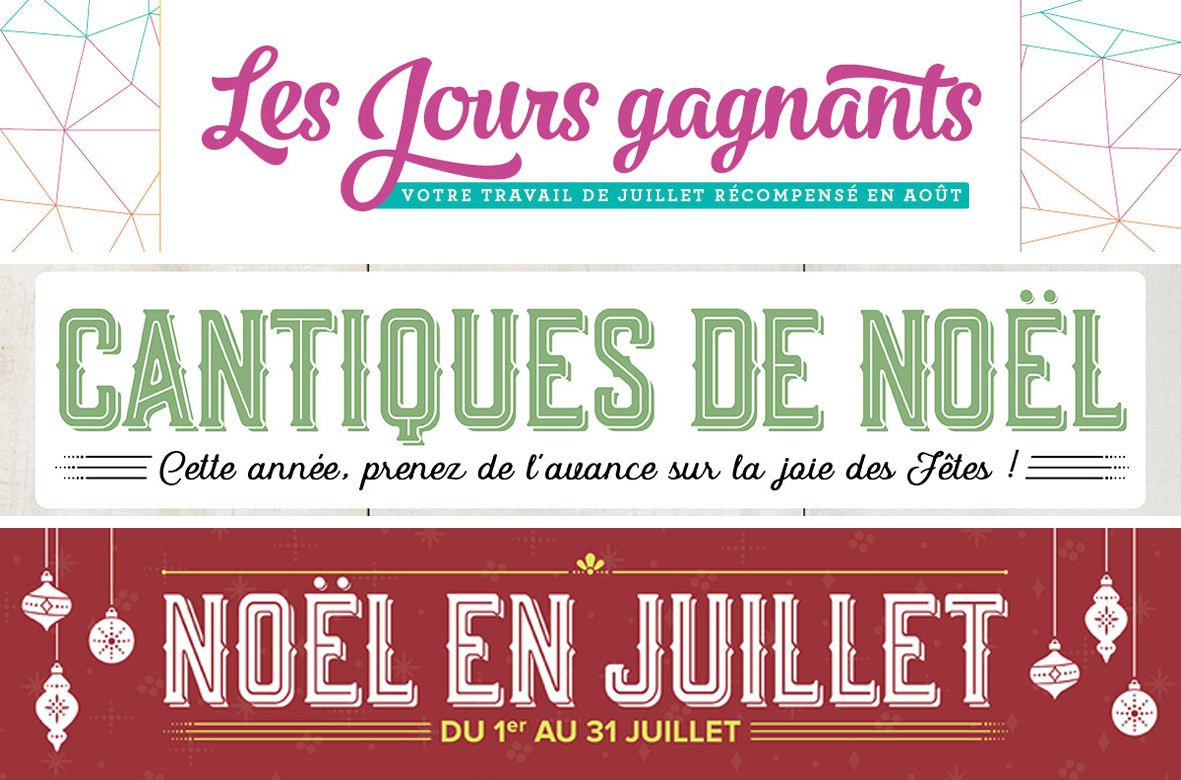 2017 07 01-31 Stampin'Up! Promotion – Les Jours Gagnants 1
