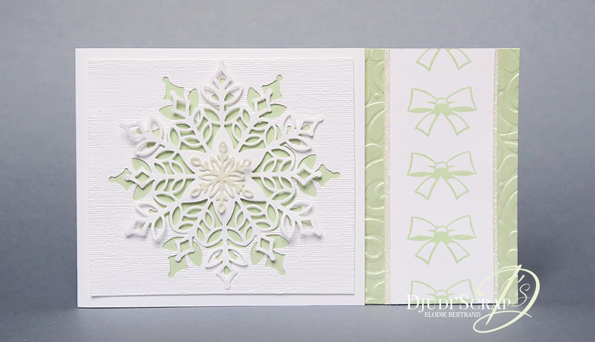 Moderne Carte Noël / Meilleurs Voeux « Thinlits Il Neige & Stamparatus IU-69