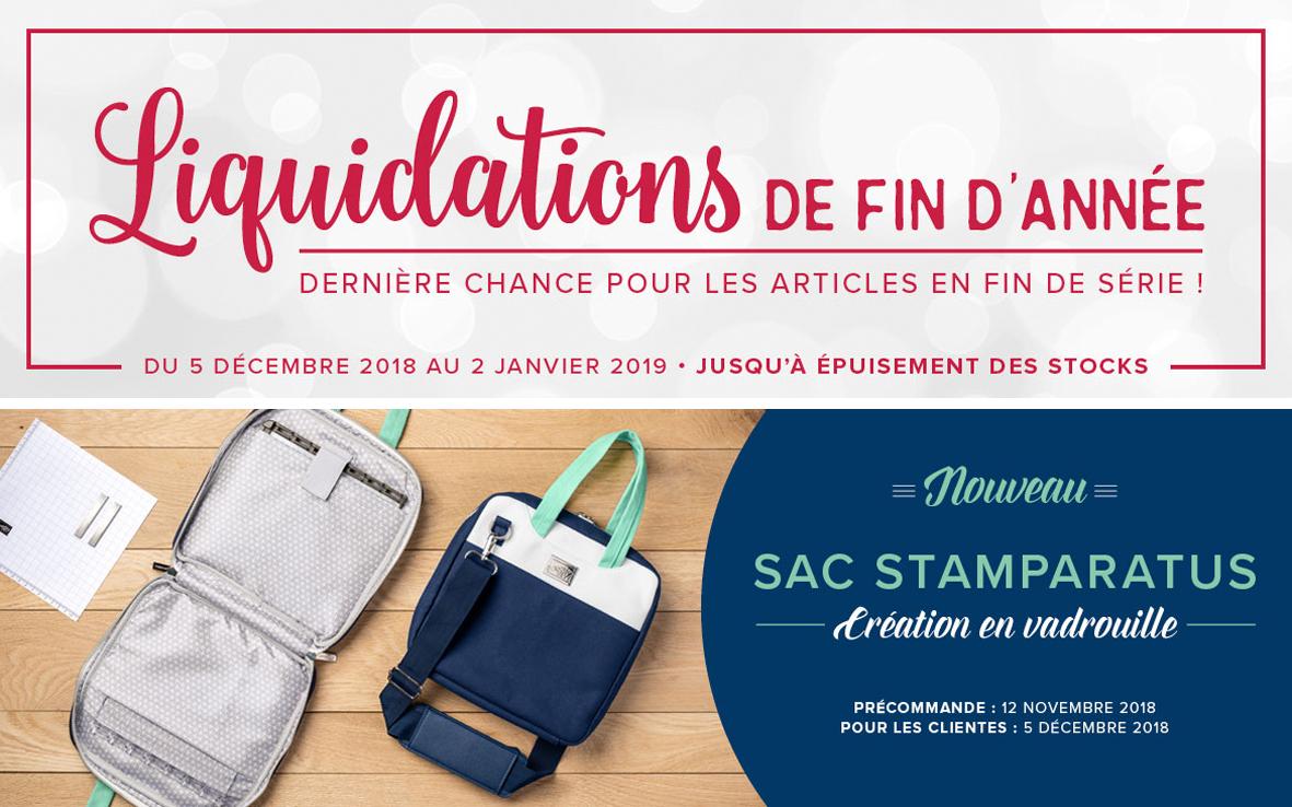 2019 12 05 Stampin'Up! Promotion Liquidation de fin d'année 2018 Nouveauté Sac Stamparatus