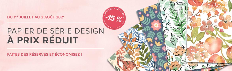 2021 07 01-08 02 Stampin'Up! Promotion – Papier de série Design à prix réduit 1